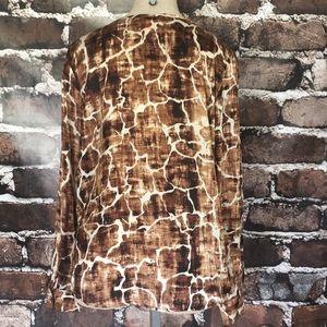 Joe Fresh Tops - Joe Fresh long sleeve blouse giraffe animal print